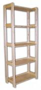 regál dřevěný masivní 33,5 x 68 x 166 cm, 5 polic
