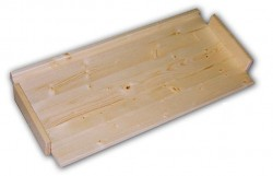 náhradní police - regál dřevěný masivní 43,5 x 68 cm