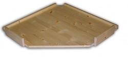 náhradní police - regál dřevěný masivní rohový 60 x 60 cm