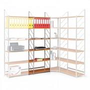 regál do kanceláře, základní regál, černý, police buk, šířka 60 cm - Biedrax RK4186