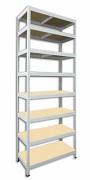 kovový regál Biedrax 45 x 90 x 210 cm - 8 polic x 175kg, bílý