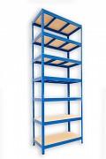 kovový regál Biedrax 45 x 90 x 270 cm - 7 polic x 275kg, modrý