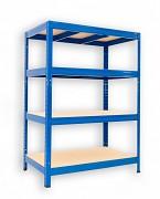 kovový regál Biedrax 60 x 120 x 90 cm - 4 police x 175kg, modrý