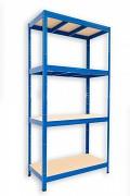kovový regál Biedrax 60 x 120 x 180 cm - modrý