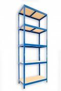 kovový regál Biedrax 35 x 75 x 210 cm - modrý