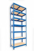 kovový regál Biedrax 35 x 75 x 210 cm - 7 polic x 175kg, modrý