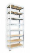 kovový regál Biedrax 45 x 90 x 270 cm - 8 polic x 275kg, pozinkovaný