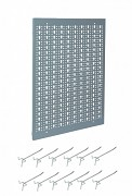 nástěnný panel do dílny na nářadí, děrovaný - Biedrax NP5808-1