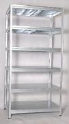 kovový regál Biedrax 45 x 120 x 210 cm - 6 polic kovových x 175kg, pozinkovaný