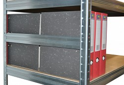 boční zábrana 45 cm zinek, pro kovový regál proti vypadnutí