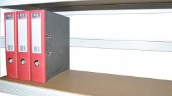 zadní zábrana 90 cm bílá, pro kovový regál proti vypadnutí