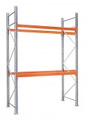 paletový regál základní 100 x 100 x 200 cm - 3000 kg/patro, pozinkovaný