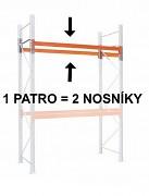 PALETOVÝ REGÁL - PŘÍDAVNÉ PATRO (2 KS NOSNÍK) 270  CM - NOSNOST 1500 KG, POZINKOVANÝ