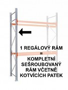 PALETOVÝ REGÁL - REGÁLOVÝ RÁM 350  CM, POZINKOVANÝ