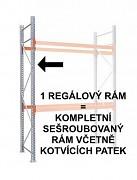 paletový regál - regálový rám 450  cm, pozinkovaný