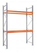 paletový regál základní 100 x 100 x 450 cm - 3000 kg/patro, pozinkovaný