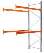 paletový regál přídavný 100 x 100 x 500 cm - 3000 kg/patro, pozinkovaný