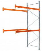 paletový regál přídavný 100 x 270 x 400 cm - 3000 kg/patro, pozinkovaný