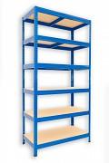 kovový regál Biedrax 45 x 75 x 180 cm - 6 polic x 175kg, modrý