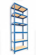 kovový regál Biedrax 60 x 75 x 210 cm - 6 polic x 175kg, modrý