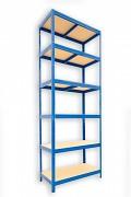 kovový regál Biedrax 60 x 75 x 270 cm - 6 polic x 175kg, modrý