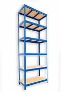 kovový regál Biedrax 35 x 120 x 270 cm - 6 polic x 175kg, modrý