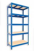 kovový regál Biedrax 50 x 120 x 180 cm - 5 polic x 175kg, modrý