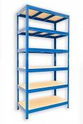 kovový regál Biedrax 50 x 120 x 180 cm - 6 polic x 175kg, modrý