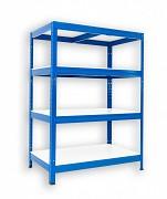 kovový regál Biedrax 60 x 60 x 90 cm - 4 police lamino x 175 kg, modrý