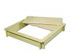 pískoviště dřevěné s lavičkami a krytem BIEDRAX 115 x 115 x 20 cm