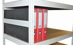 boční zábrana 40 cm bílá, pro kovový regál proti vypadnutí