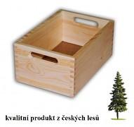 dřevěná bedna malá 30 x 20 x 13 cm - Biedrax