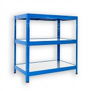 kovový regál Biedrax 35 x 60 x 90 cm - 3 police kovové x 120 kg, modrý