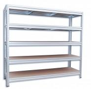 kovový regál Biedrax 60 x 200 x 180 cm, 5 polic - pozink, nosnost 200 kg na polici