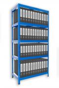 Regál na šanony Biedrax 35 x 90 x 180 cm - 5 polic x 175kg, modrý