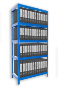 Regál na šanony Biedrax 50 x 60 x 180 cm - 5 polic x 175kg, modrý