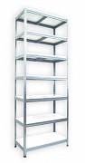 Pozinkovaný regál Biedrax 35 x 60 x 210 cm - 7 polic x 175 kg, bílé police lamino