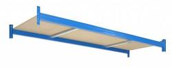 Profesionální Regál BIEDRAX - samostatné patro 60 x 120  cm - nosnost 350 kg, modrá