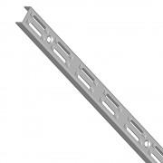 Nástěnná lišta 200 cm (stojinka) - barva stříbrná
