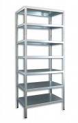 kovový regál Biedrax šroubovaný 30 x 100 x 250 cm, 7 polic - pozinkovaný