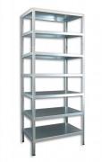 kovový regál Biedrax šroubovaný 30 x 130 x 300 cm, 7 polic - pozinkovaný