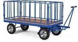 velký plošinový vozík Biedrax PV1580 - ohrádka celokovová