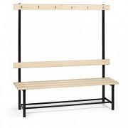 lavice, lavičky do šatny s věšáky jednostranná LS4233