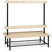 lavice, lavičky do šatny s věšáky oboustranná LS4234