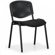 Konferenční čalouněná židle, černá Biedrax Z9850C