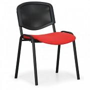 Konferenční čalouněná židle, červená Biedrax Z9850CV