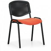 Konferenční čalouněná židle, oranžová Biedrax Z9850O