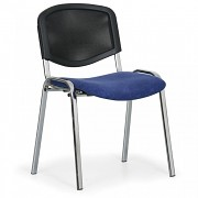 Konferenční čalouněná židle, modrá Biedrax Z9854M