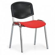 Konferenční čalouněná židle, červená Biedrax Z9854CV
