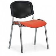 Konferenční čalouněná židle, oranžová Biedrax Z9854O